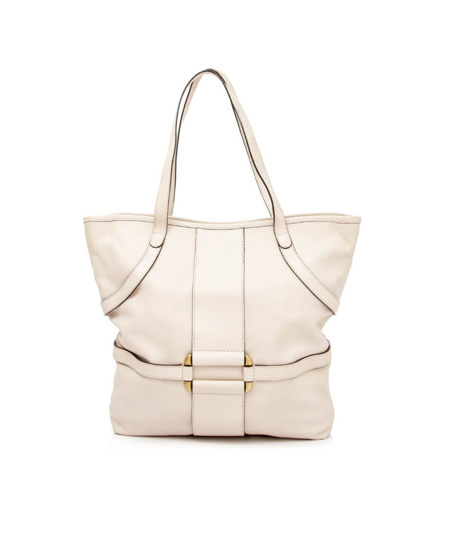 Image for Vintage Alexander McQueen Leather Tote Bag White