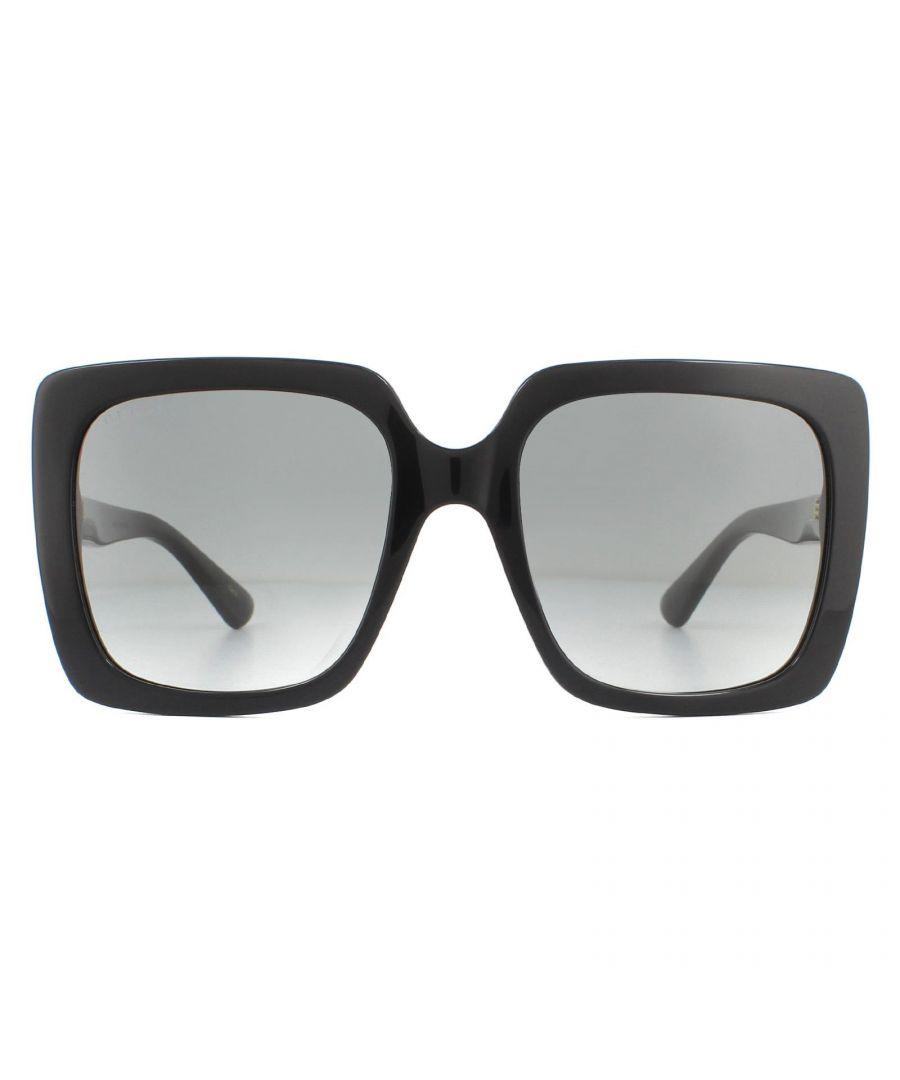 Image for Gucci Sunglasses GG0418S 001 Black Grey Gradient