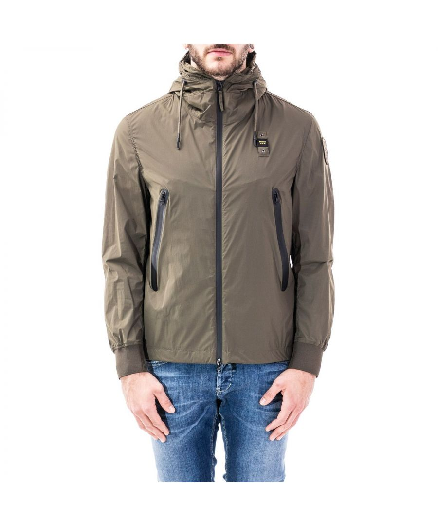 Image for BLAUER MEN'S 20SBLUC04046005250683 GREEN POLYAMIDE OUTERWEAR JACKET
