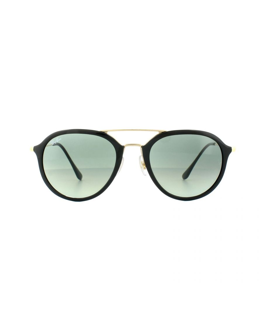 Image for Ray-Ban Sunglasses 4253 601/71 Black Gold Grey Gradient