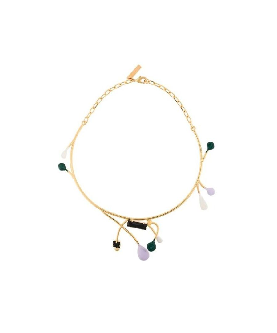 Image for MARNI WOMEN'S COMV0024A0M200000C40 GOLD METAL NECKLACE