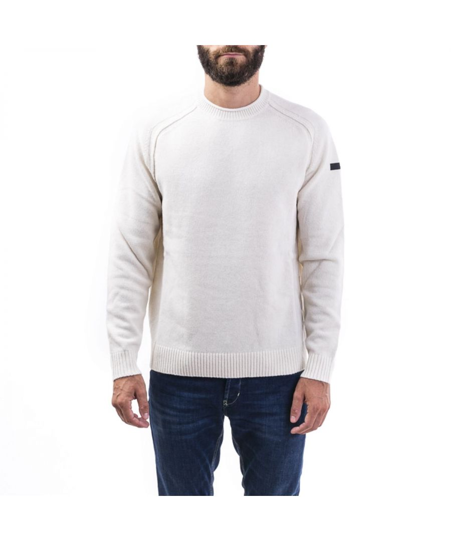 Image for RRD MEN'S W1913009 WHITE WOOL SWEATER
