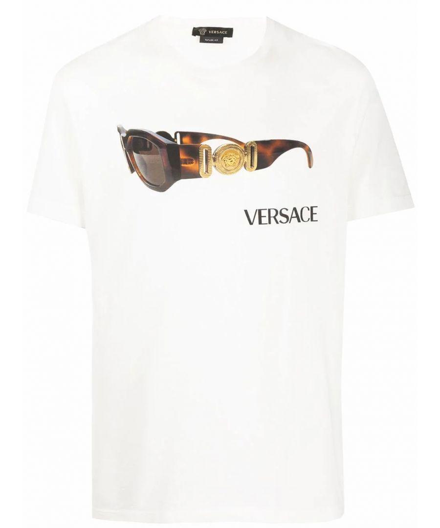 Image for VERSACE MEN'S A85577A228806A1002 WHITE COTTON T-SHIRT