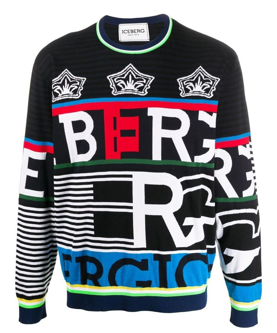 Image for ICEBERG MEN'S A01376330001 BLUE COTTON SWEATER