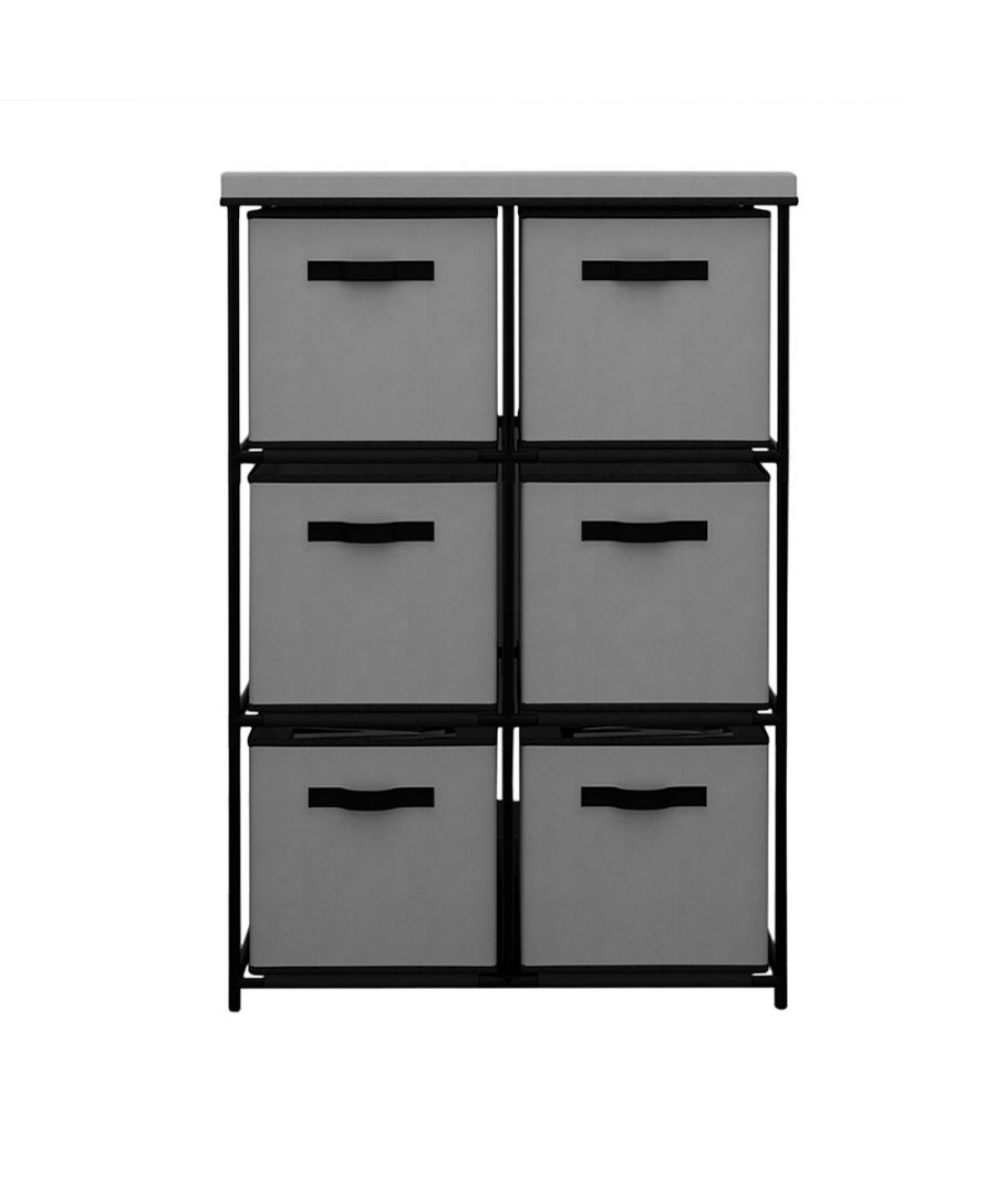 Image for Vertical Shelving Chest with 6 drawers