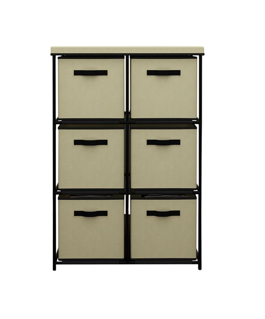 Image for Vertical Shelving Chest with 6 drawers Beige