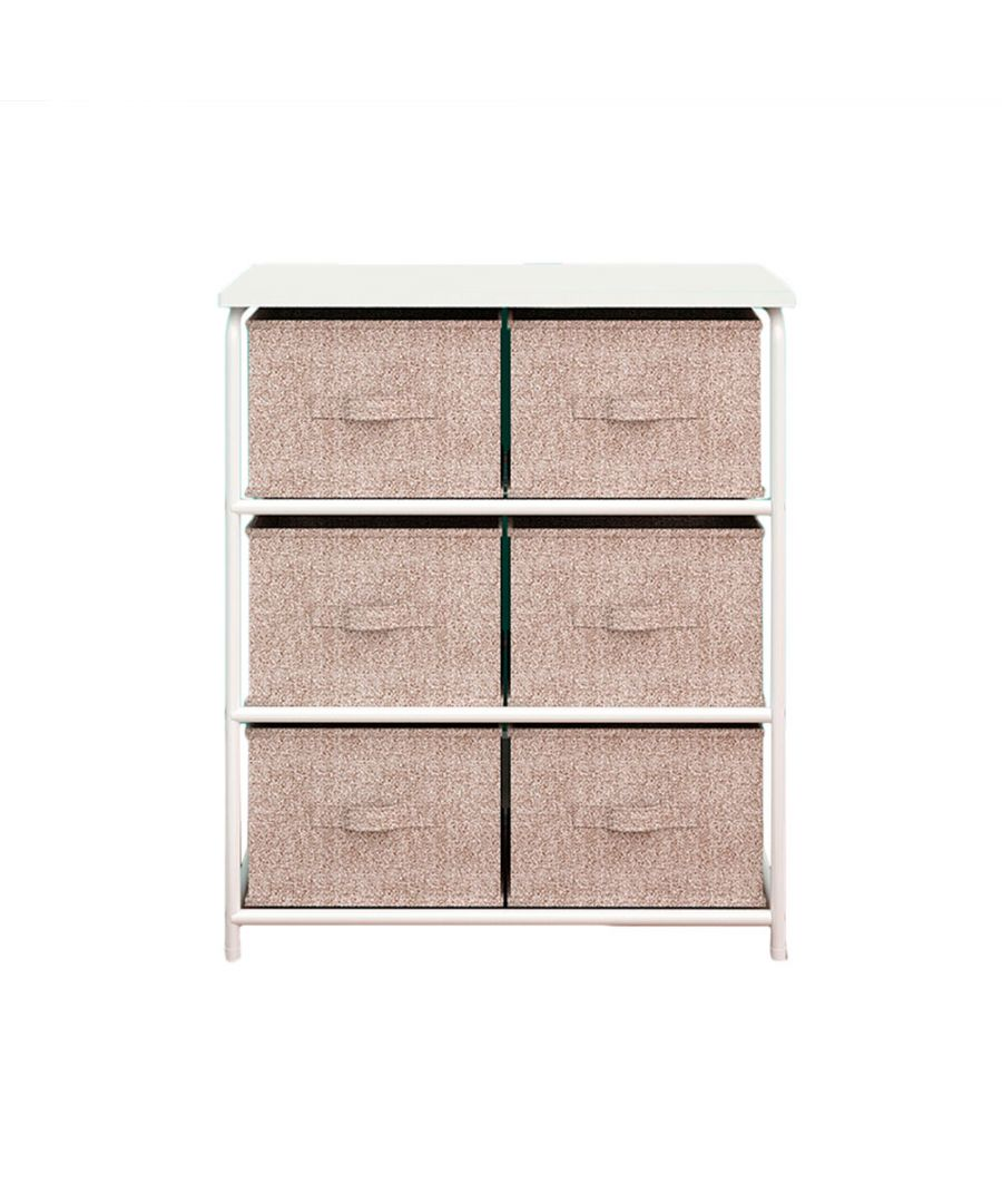 Image for Home furniture shelf with 6 drawers Beige