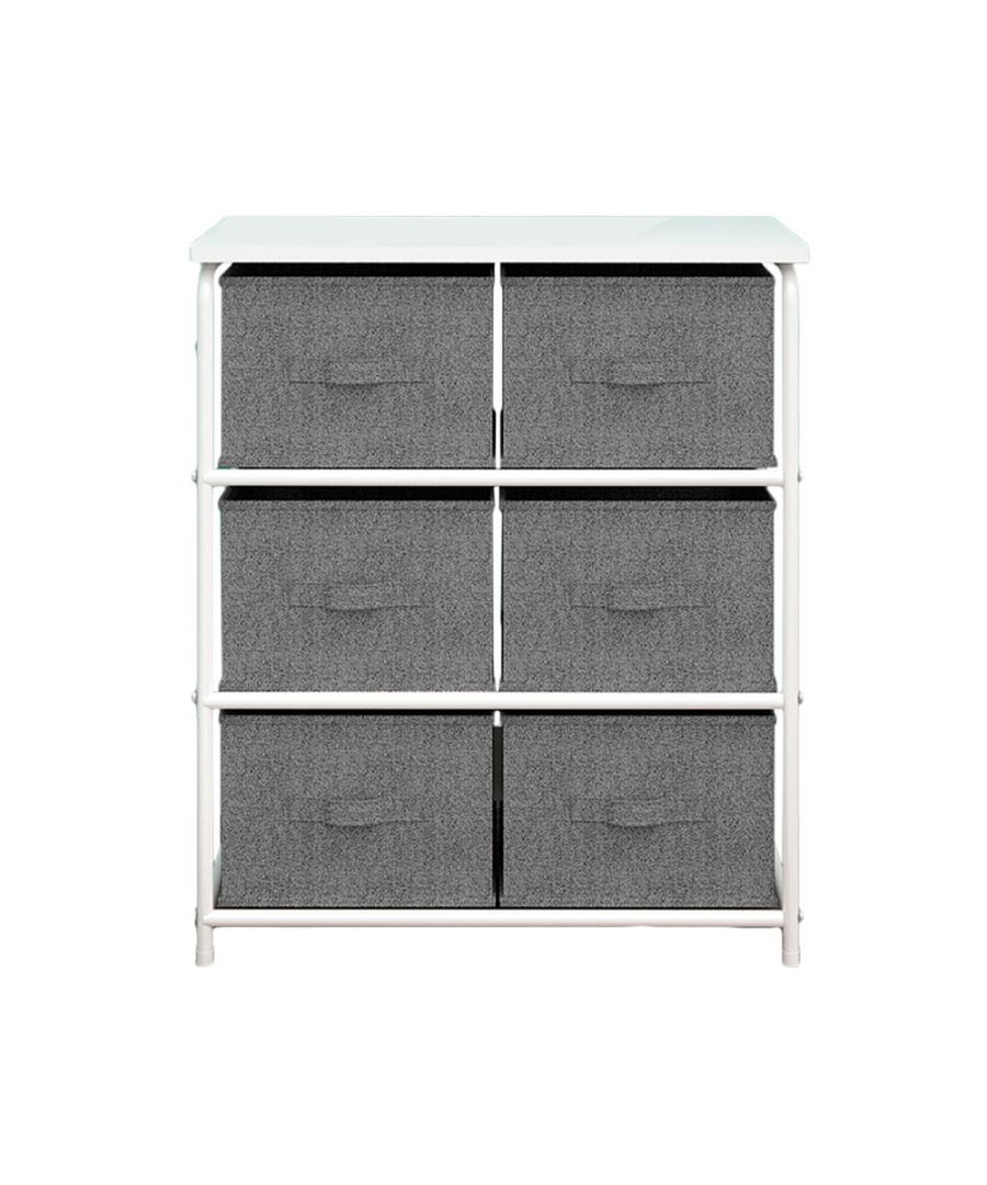 Image for Home furniture shelf with 6 drawers Grey