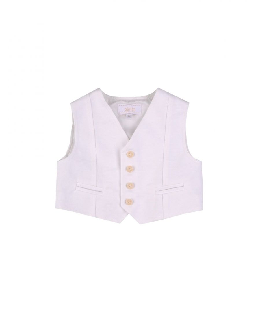 Image for SUITS AND JACKETS Aletta White Boy Cotton