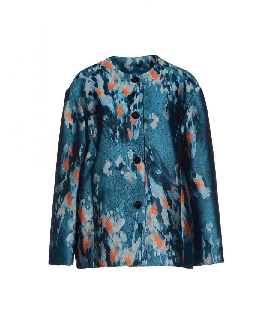 Image for Philosophy Di Alberta Ferretti Turquoise Print Jacquard Jacket