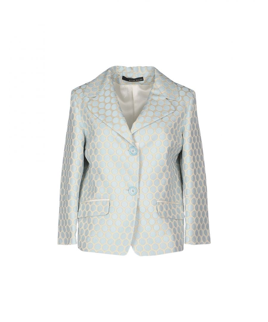 Image for Brian Dales Beige Jacquard Single Breasted Jacket