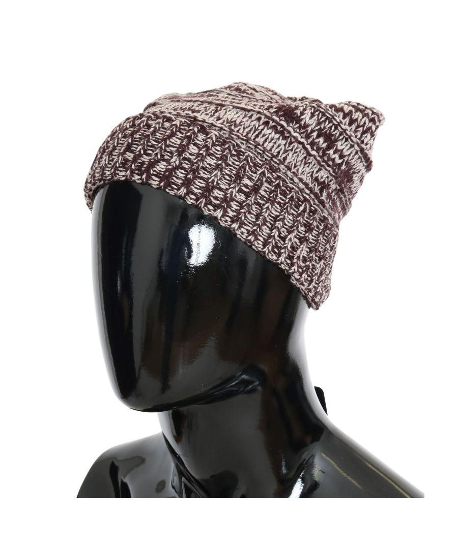 Image for Dolce & Gabbana Bordeaux Wool Winter Beanie