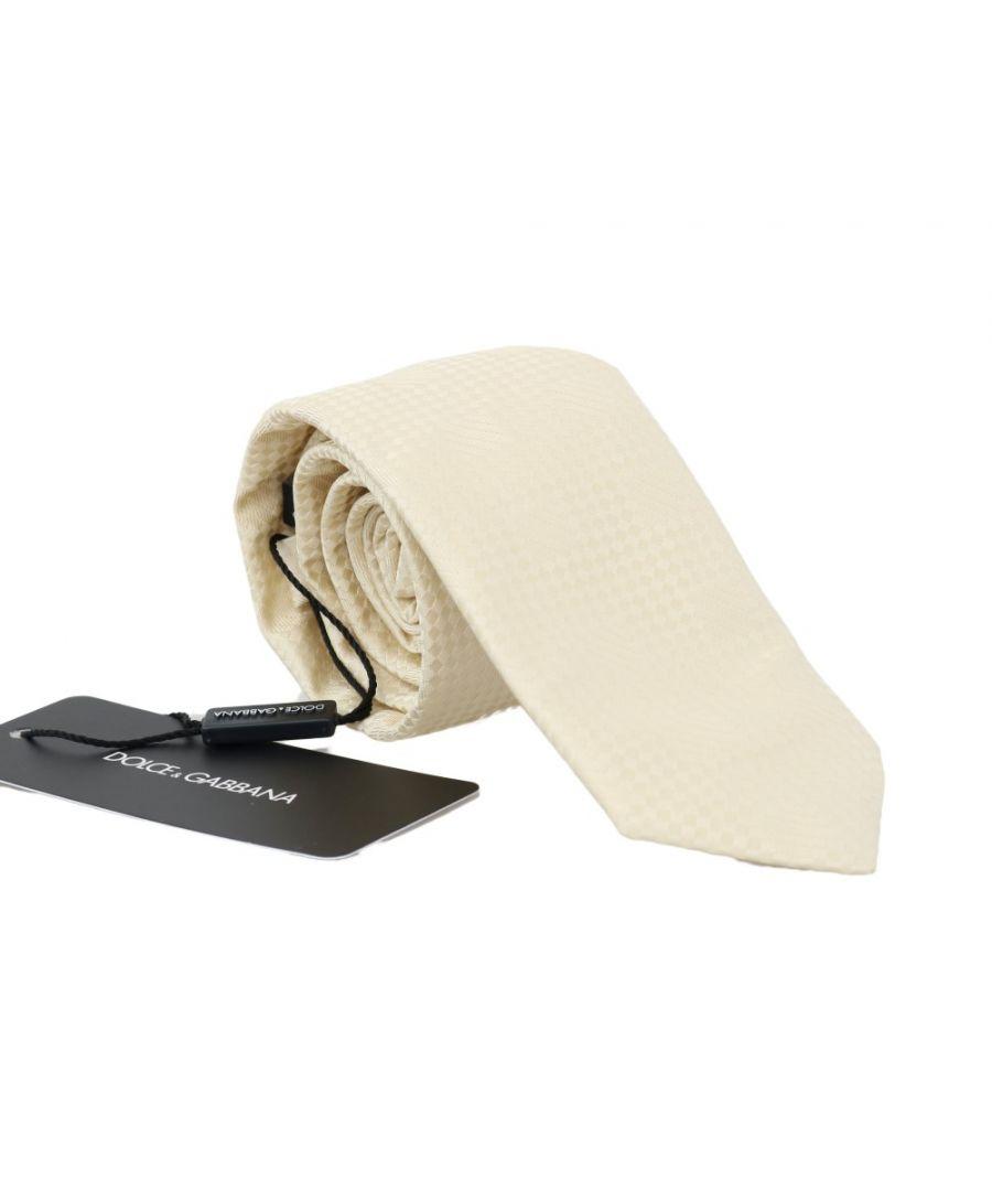 Image for Dolce & Gabbana Beige Patterned Silk Tie