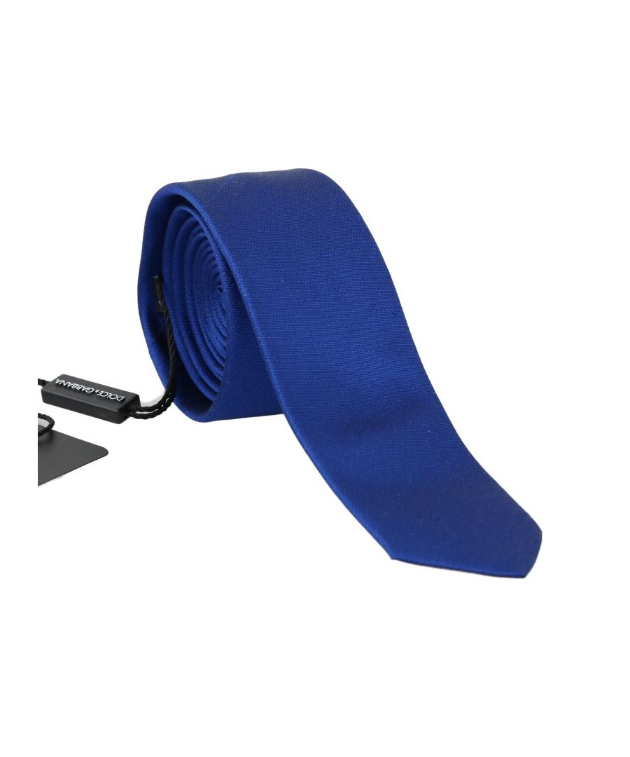 Image for Dolce & Gabbana Blue Silk Solid Slim Tie