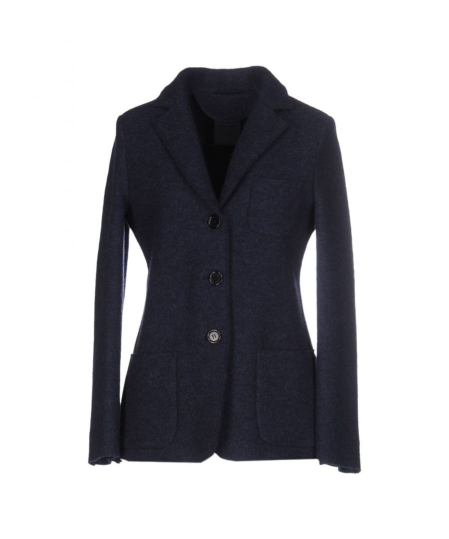 Image for Aspesi Dark Blue Wool Single Breasted Blazer