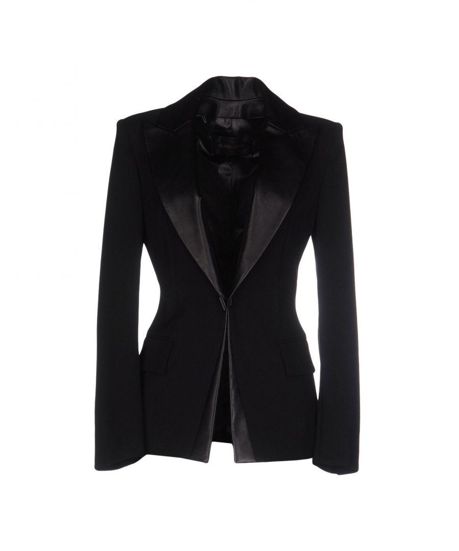 Image for Plein Sud Black Leather Trim Blazer