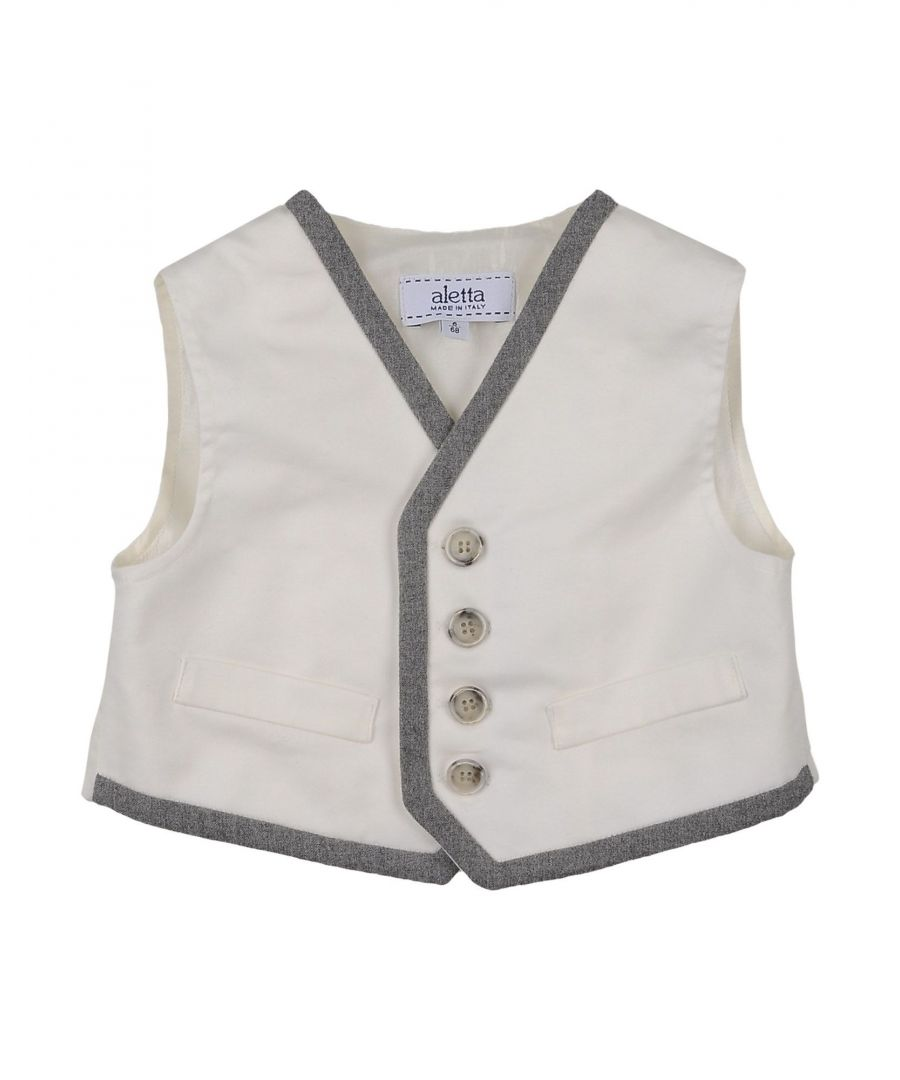 Image for SUITS AND JACKETS Boy Aletta White Cotton