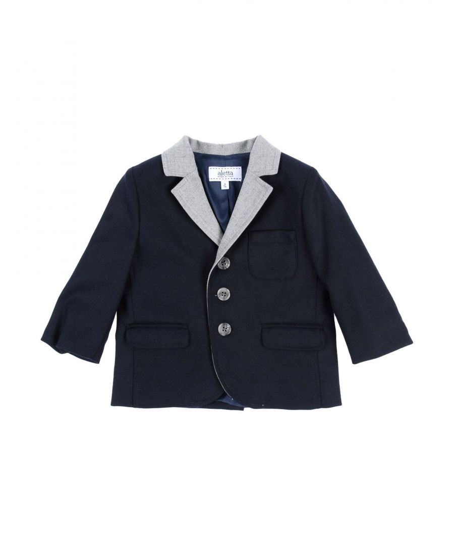 Image for SUITS AND JACKETS Aletta Dark blue Boy Wool