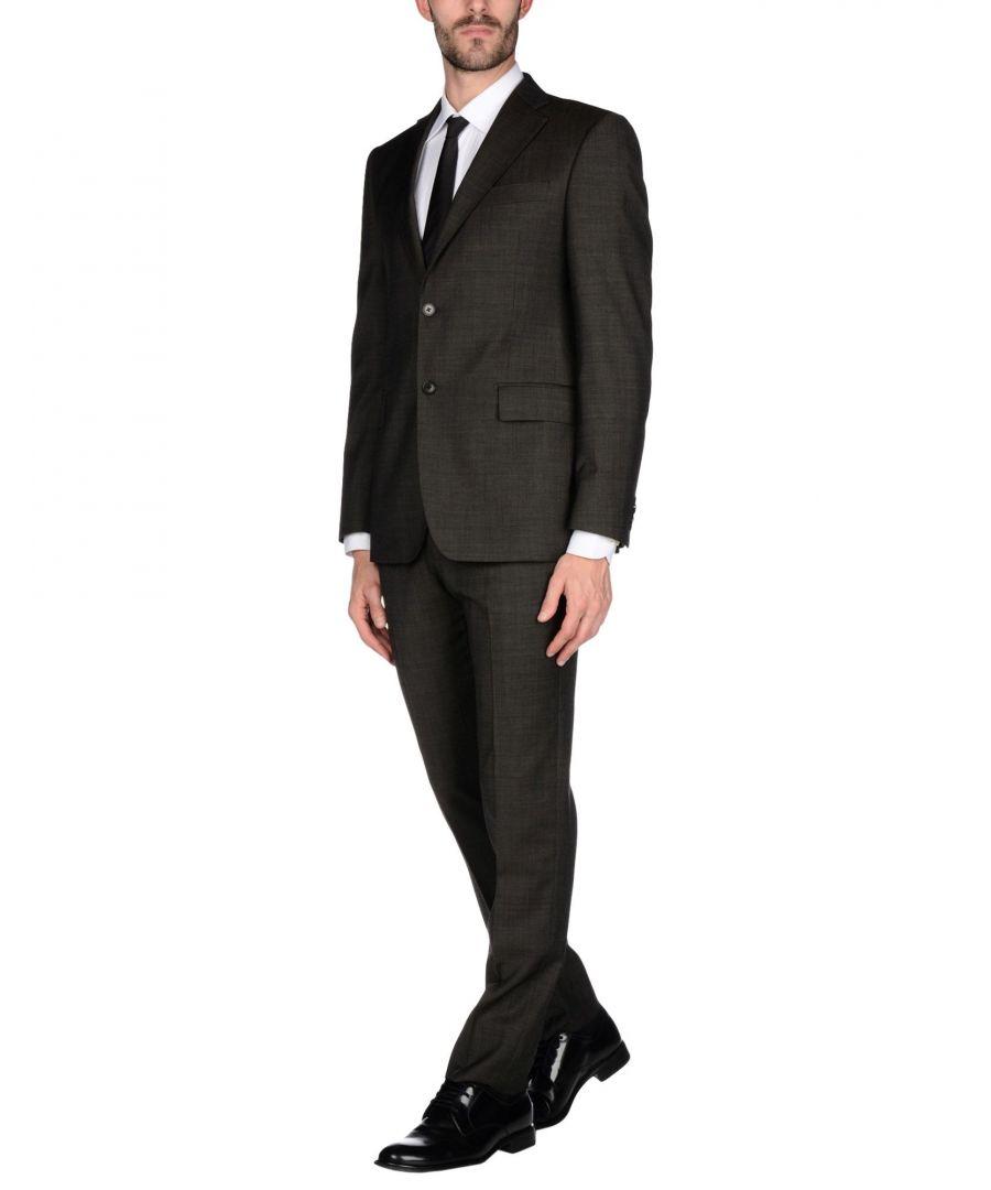 Image for Cerruti 1881 Dark Brown Virgin Wool Single Breasted Suit