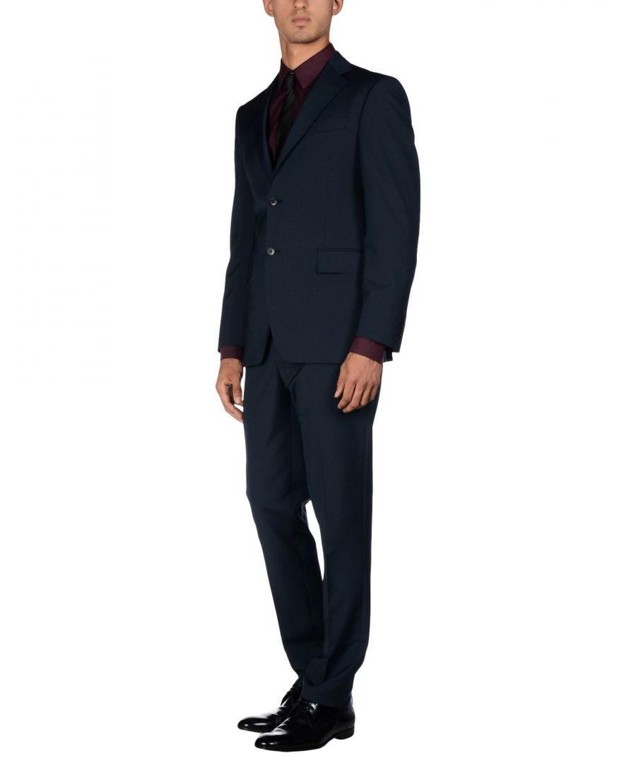 Image for Cerruti 1881 Dark Blue Wool Single Breasted Suit