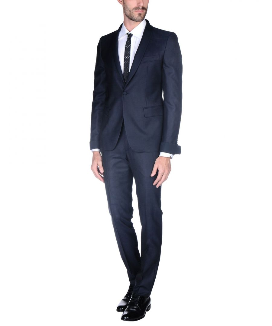 Image for Brian Dales Dark Blue Wool Single Breasted Suit