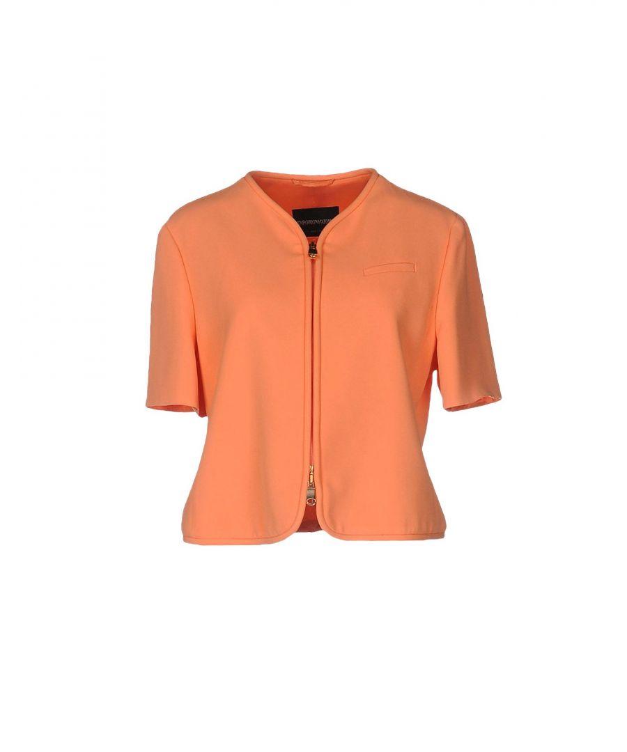 Image for Emporio Armani Orange Crepe Short Sleeve Jacket