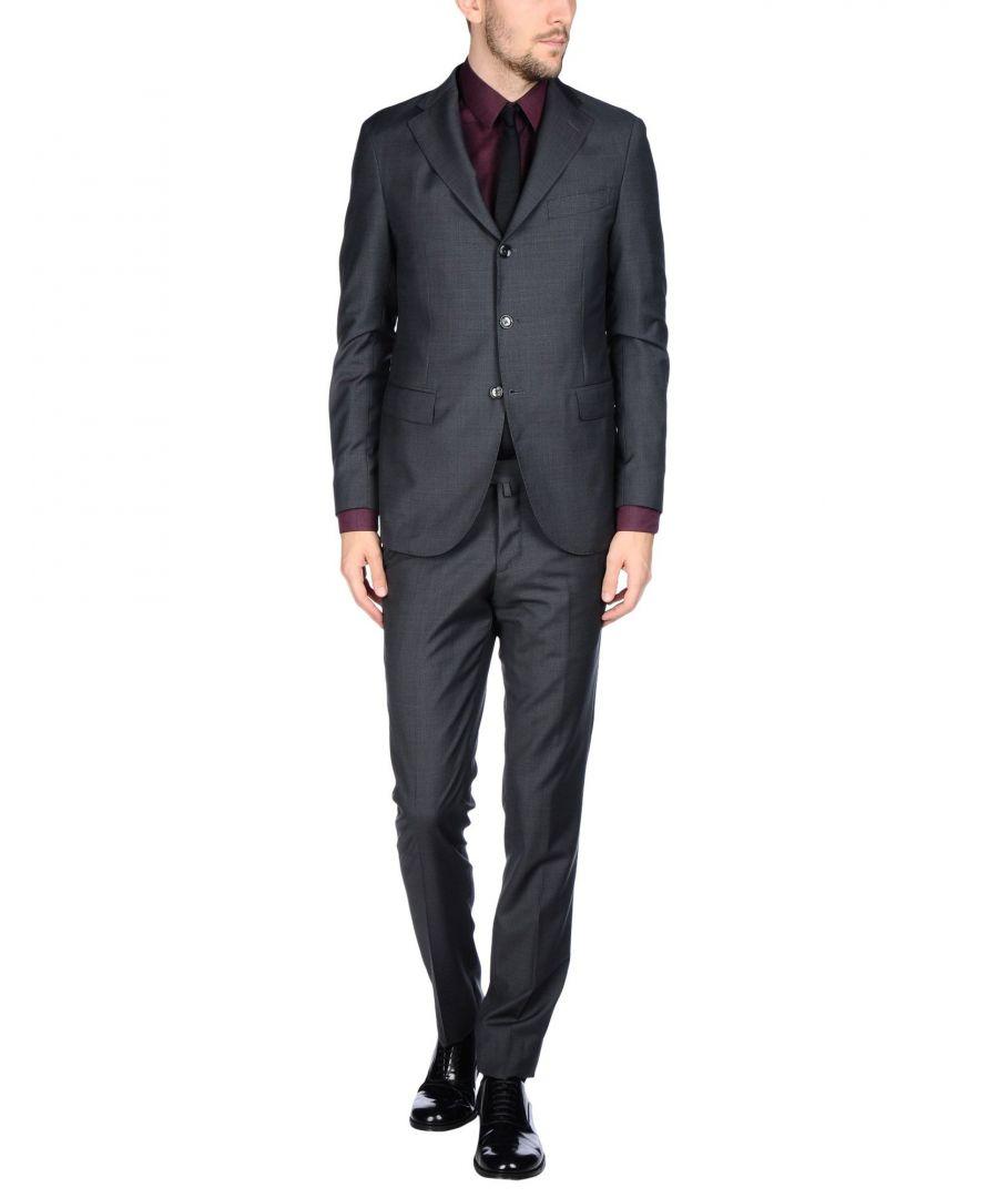 Image for Luigi Borrelli Napoli Steel Grey Virgin Wool Suit