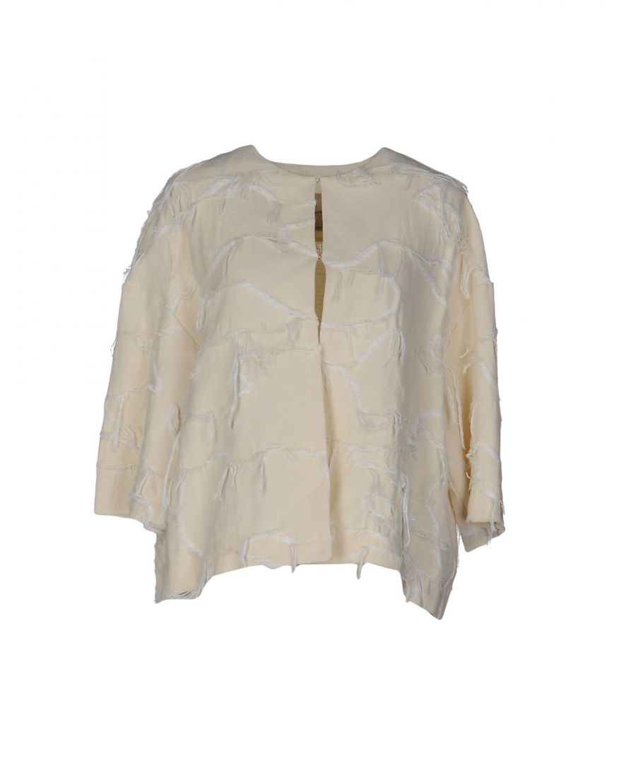 Image for Erika Cavallini Ivory Linen Jacket
