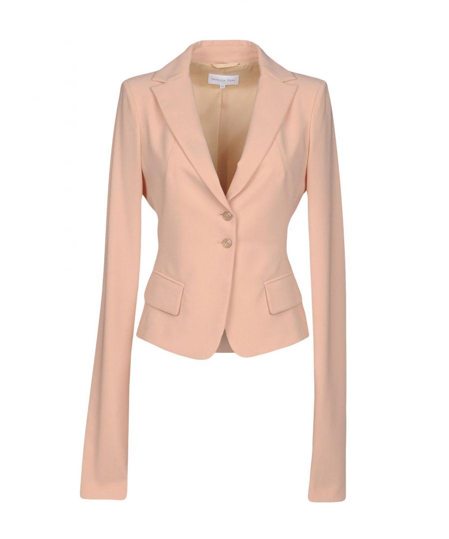 Image for Patrizia Pepe Pastel Pink Crepe Single Breasted Blazer