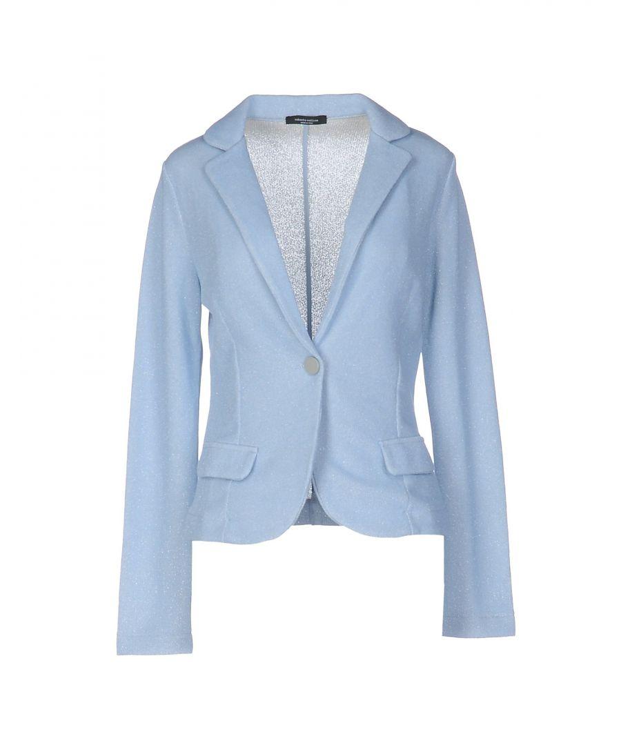 Image for Roberto Collina Sky Blue Cotton Blazer