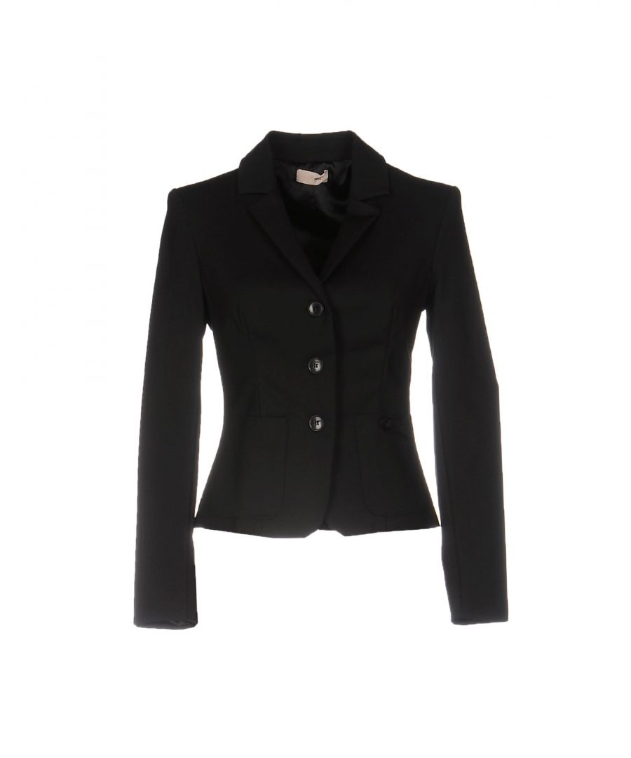 Image for Scee By Twinset Black Cotton Single Breasted Blazer