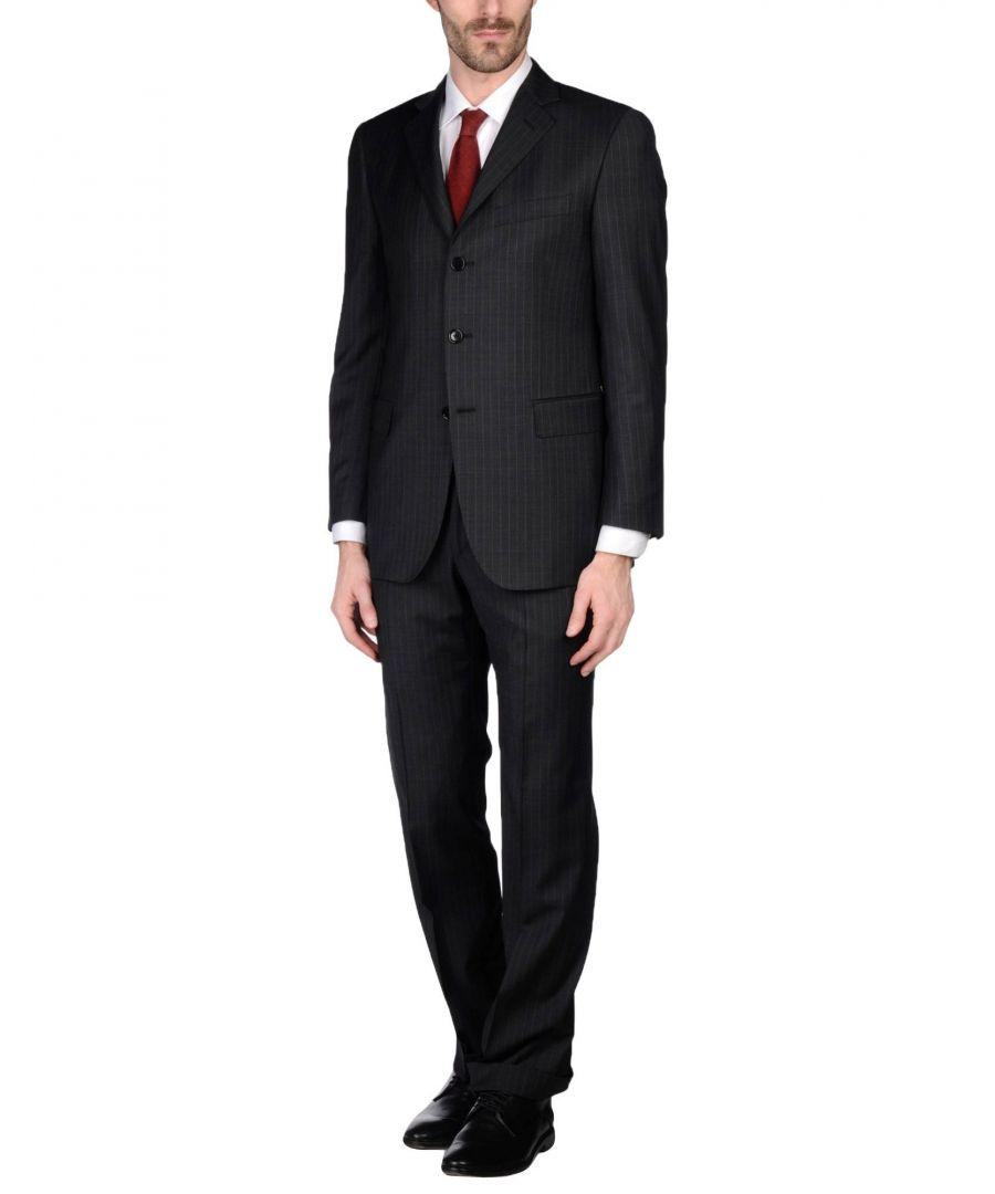 Image for Pierre Cardin Steel Grey Virgin Wool Single Breasted Suit