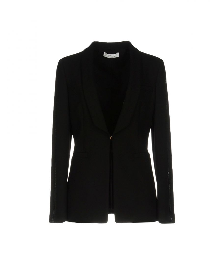 Image for Versace Collection Black Single Breasted Blazer