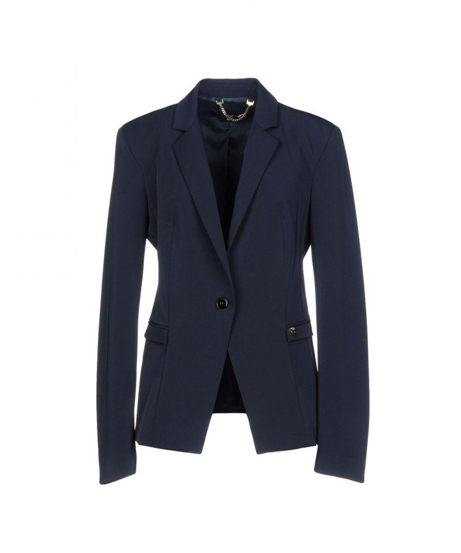 Image for Elisabetta Franchi 24 Ore Dark Blue Single Breasted Blazer