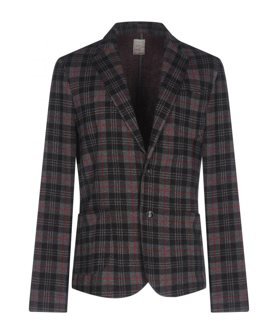 Image for Kaos Grey Tartan Cotton Single Breasted Jacket