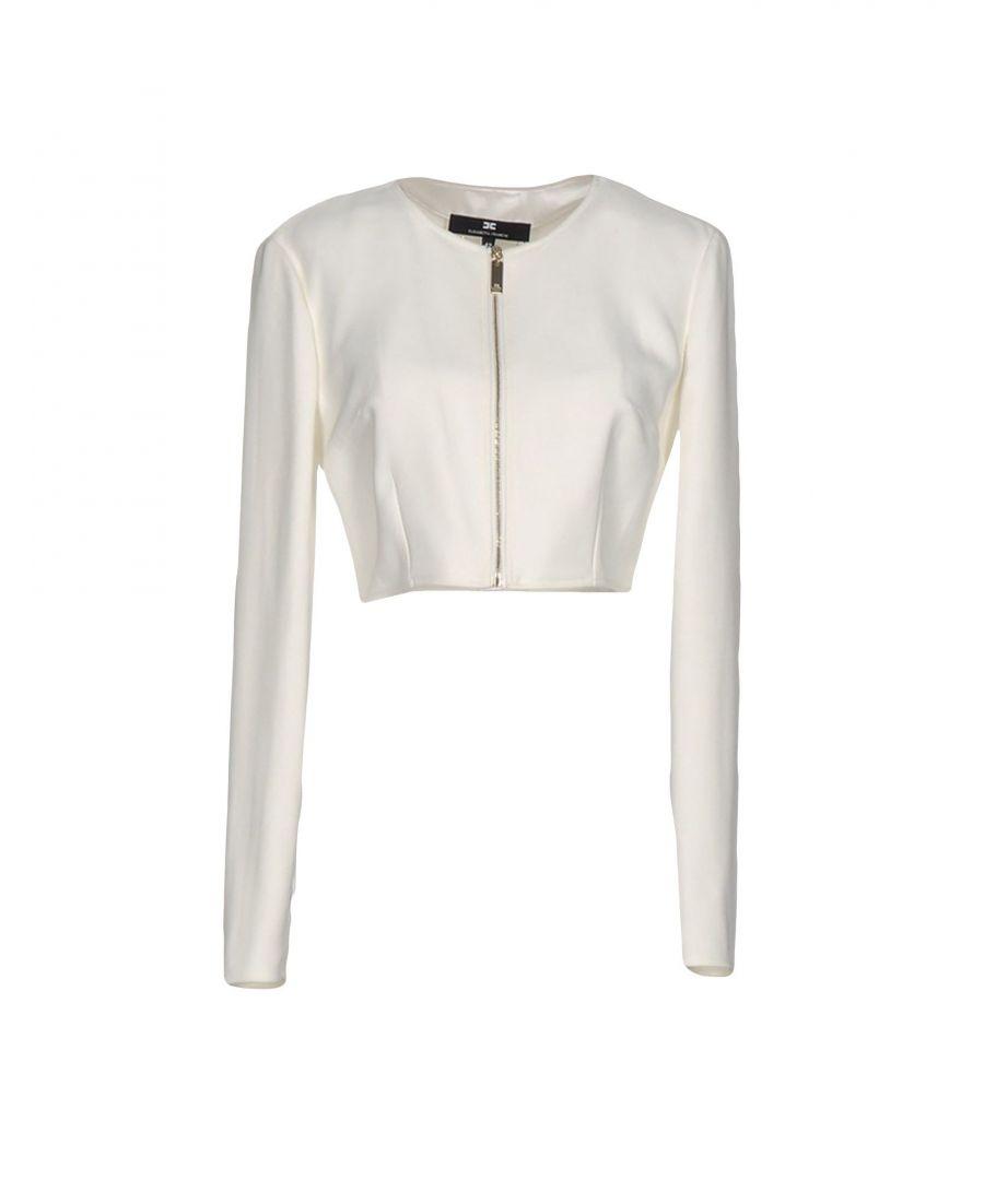 Image for Elisabetta Franchi Ivory Cropped Jacket
