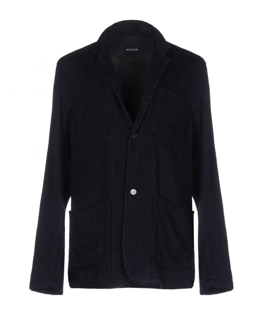 Image for Wåven Dark Blue Cotton Single Breasted Jacket