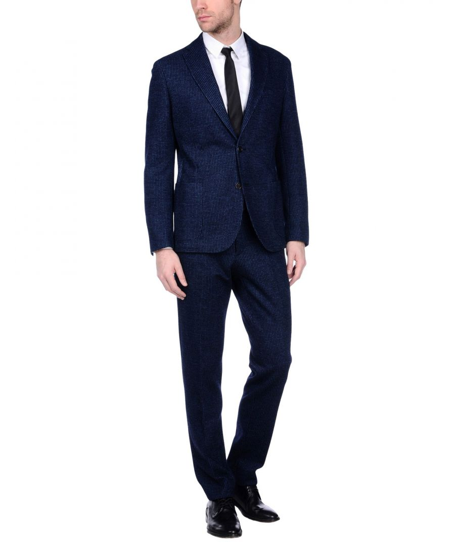 Image for Eleventy Blue Wool Single Breasted Suit