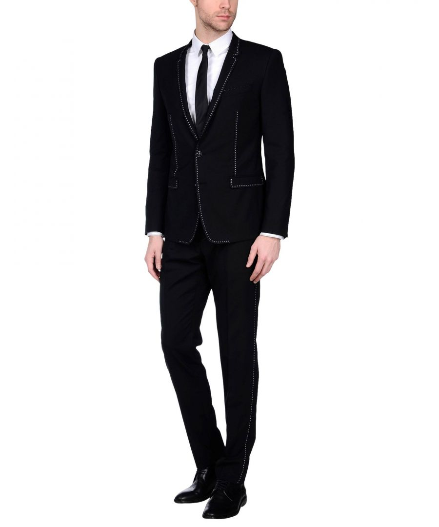 Image for Dolce & Gabbana Black Virgin Wool Single Breasted Suit