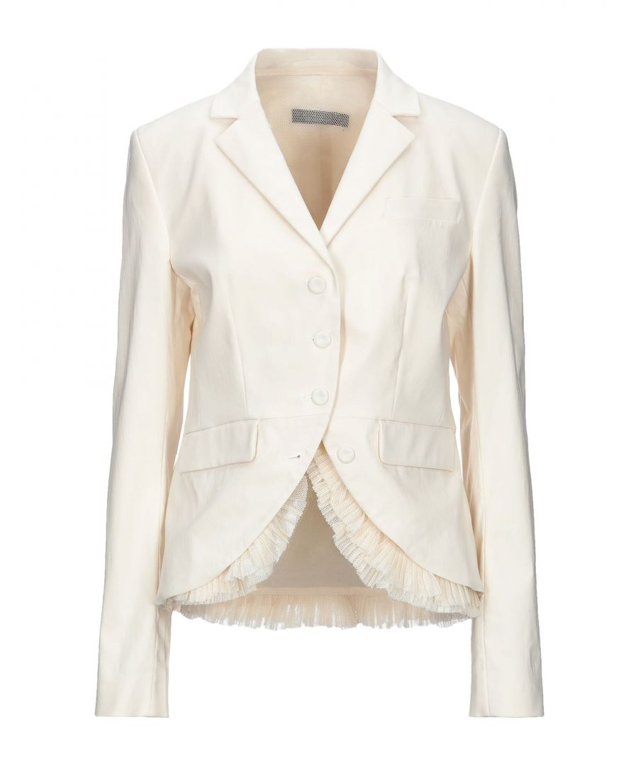 Image for Twinset Ivory Cotton Single Breasted Blazer