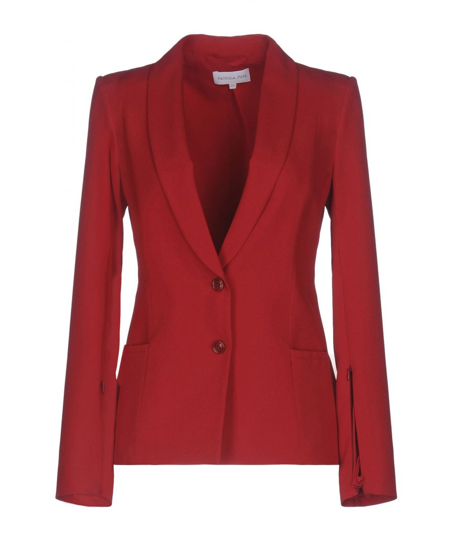 Image for Patrizia Pepe Red Crepe Single Breasted Jacket