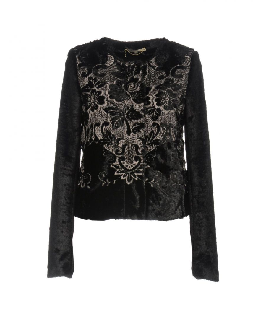 Image for Patrizia Pepe Black Jacquard And Faux Fur Jacket