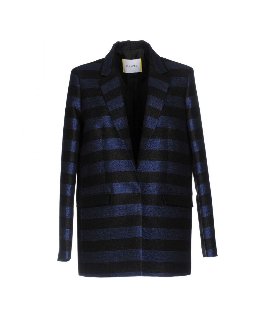 Image for Iceberg Dark Blue Cotton Lame Single Breasted Jacket