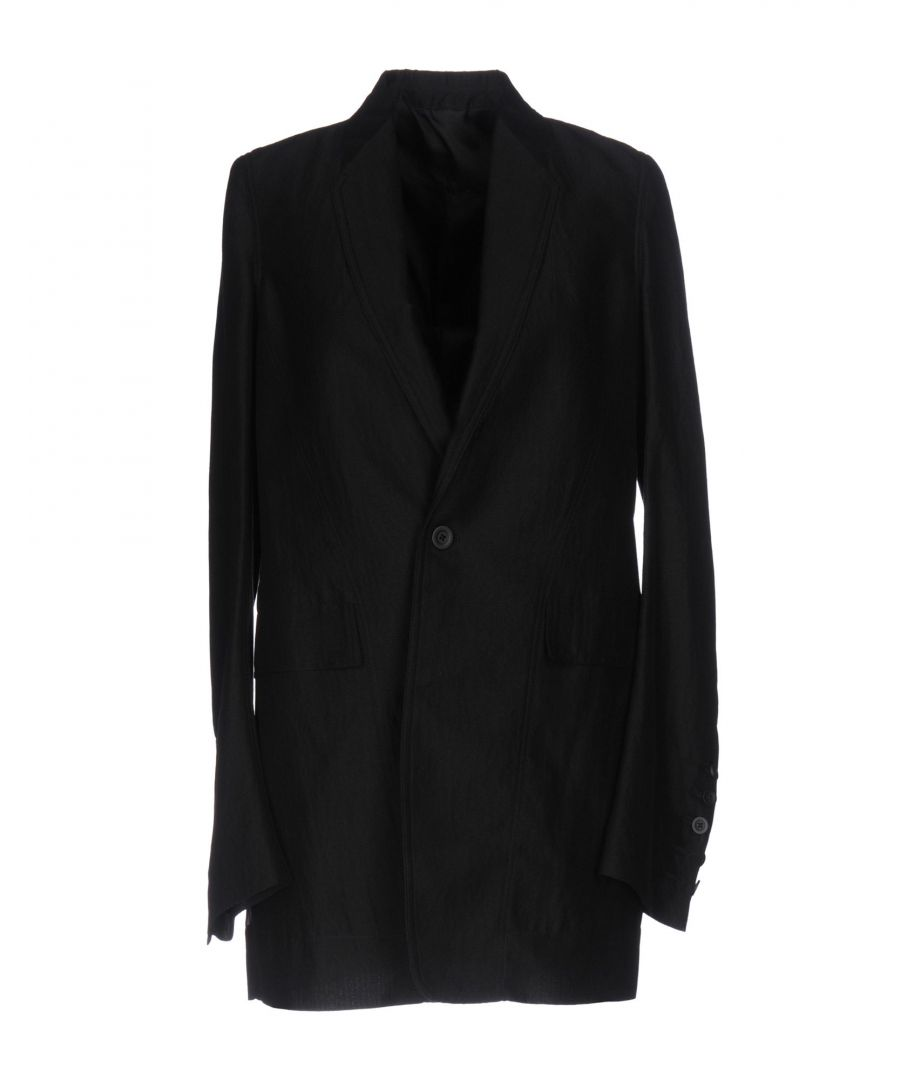 Image for Rick Owens Black Cotton Single Breasted Jacket
