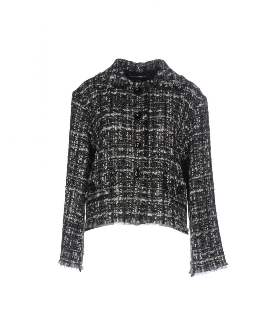 Image for Dolce & Gabbana Black Wool Tweed Jacket