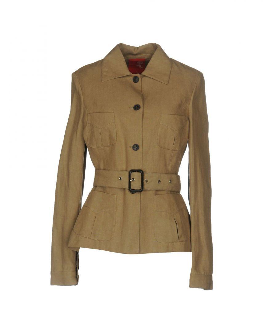 Image for Boule De Neige Camel Linen Belted Jacket