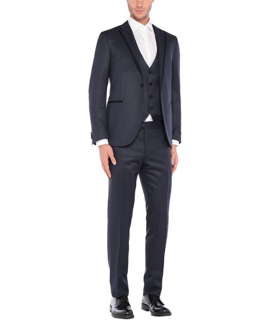 Image for Corneliani Dark Blue Super 130s Wool Three Piece Single Breasted Suit
