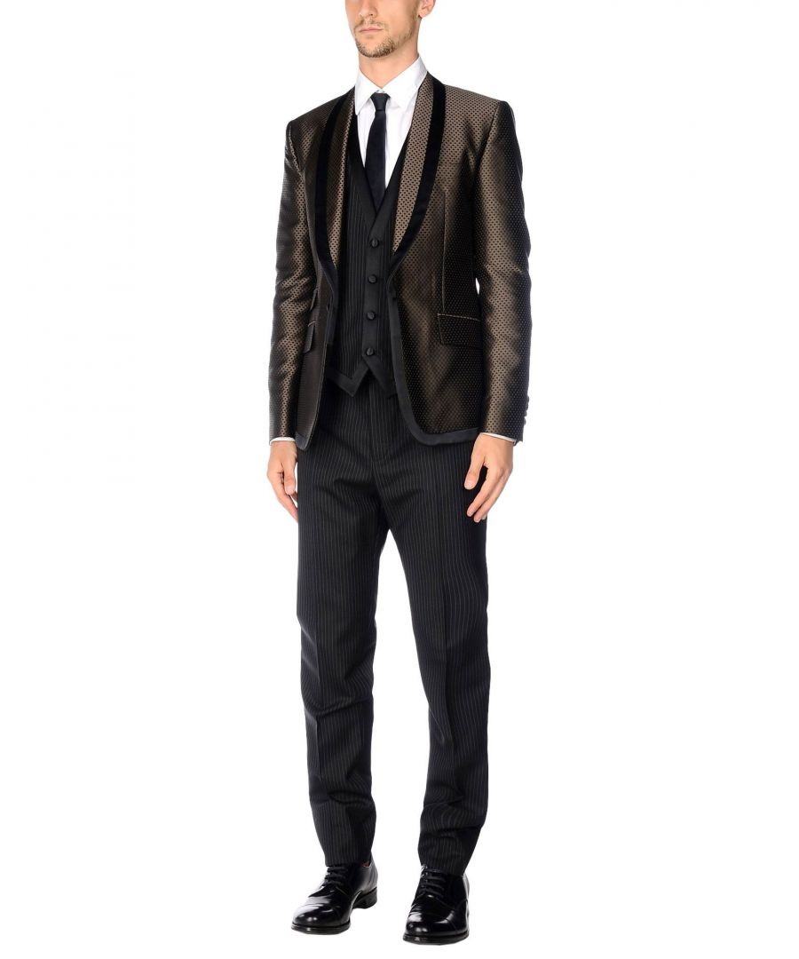 Image for Dolce & Gabbana Khaki Virgin Wool Suit