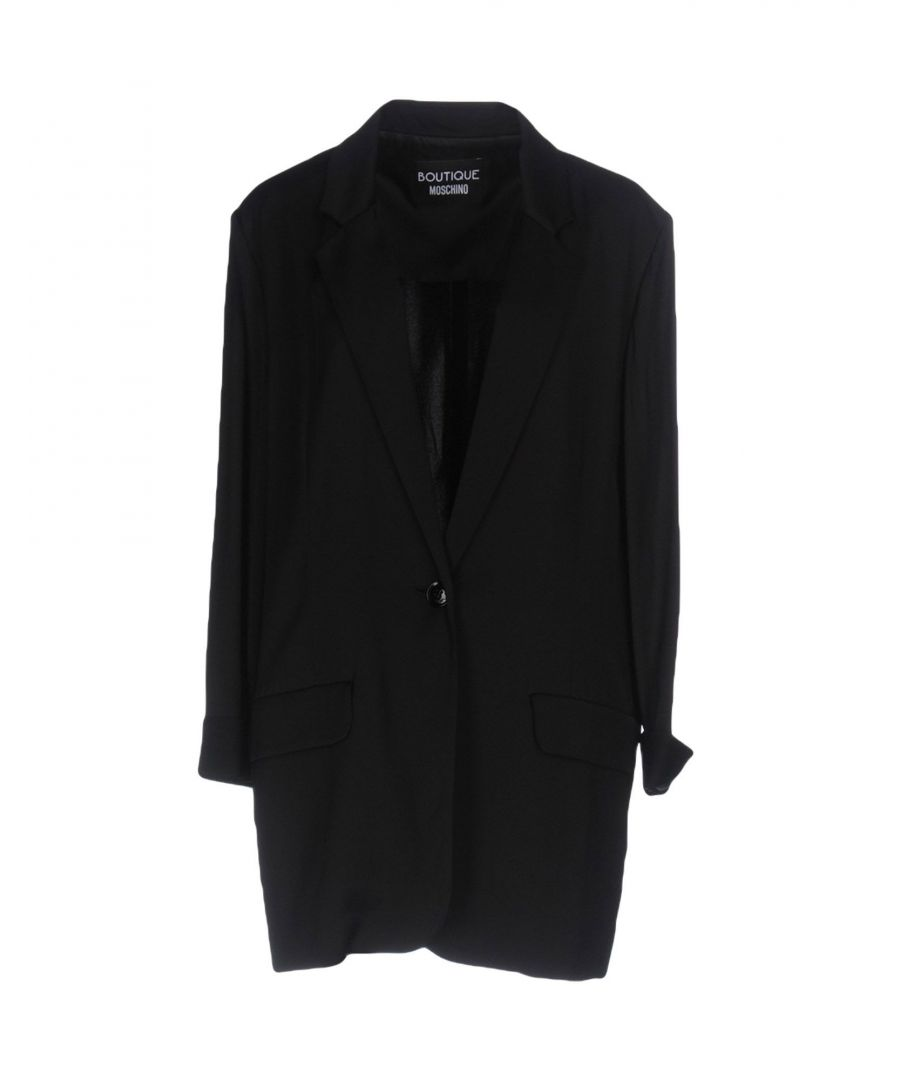 Image for Boutique Moschino Black Crepe Single Breasted Jacket
