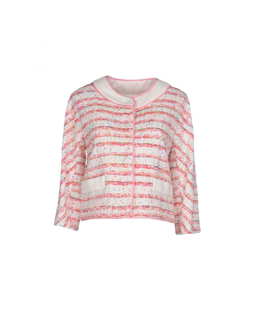 Image for Boutique Moschino White Stripe Tweed Cotton Jacket
